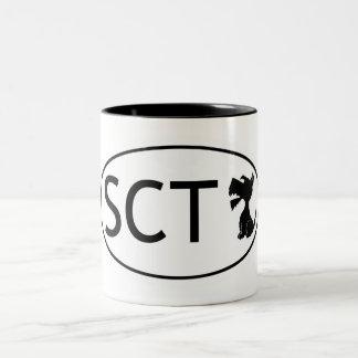 Scottish Terrier Abbeviation SCT Two-Tone Coffee Mug