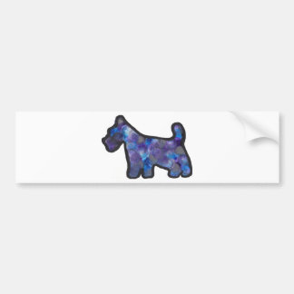 Scottish Terrier Abstract Design Car Bumper Sticker