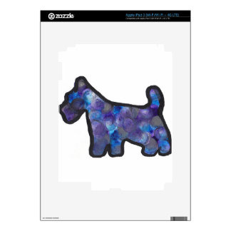 Scottish Terrier Abstract Design Decals For iPad 3