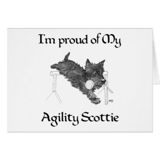 Scottish Terrier Agility Greeting Card
