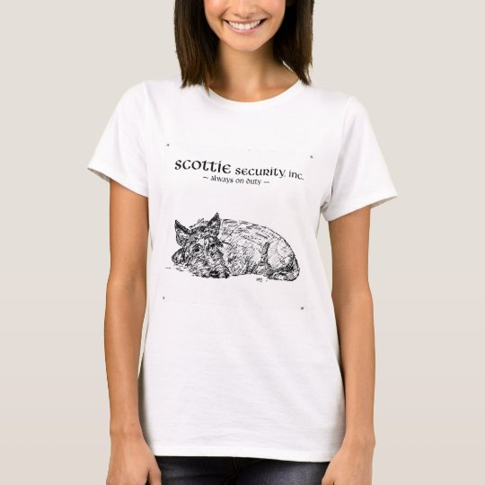 Scottish Terrier always has One Eye Open T-Shirt