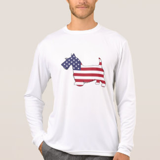 "Scottish terrier - ""american flag"" T-Shirt"