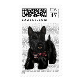 Scottish Terrier and Bow Postage Stamp