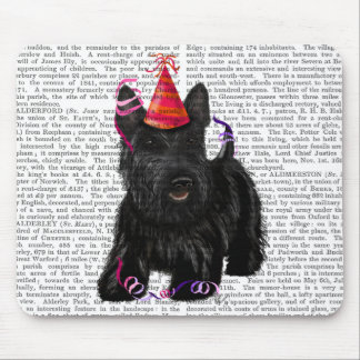 Scottish Terrier and Party Hat Mouse Pad