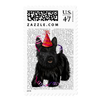 Scottish Terrier and Party Hat Postage