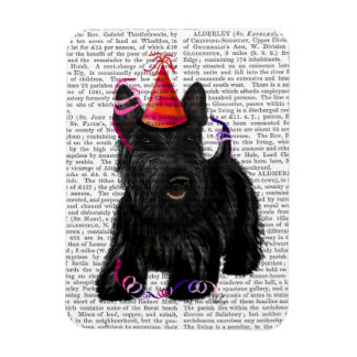 Scottish Terrier and Party Hat Rectangular Photo Magnet