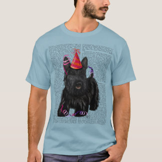 Scottish Terrier and Party Hat T-Shirt