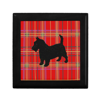 Scottish Terrier and Plaid or Tartan gift boxes