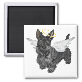 Scottish Terrier Angels 2 Inch Square Magnet