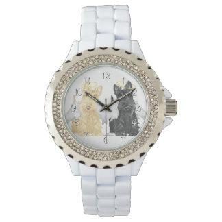 Scottish Terrier Angels Wristwatch
