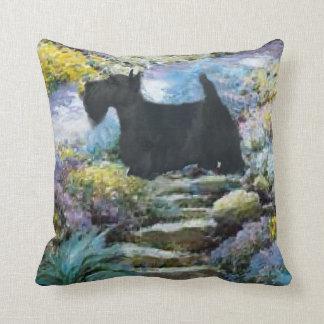 Scottish Terrier Art Gifts Throw Pillow