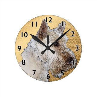 Scottish Terrier Art Round Wallclock