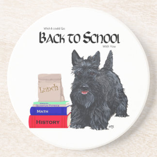 Scottish Terrier Back to School Beverage Coasters