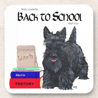 Scottish Terrier Back to School Drink Coasters