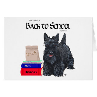 Scottish Terrier Back to School Greeting Card