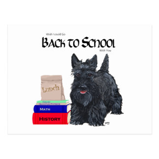 Scottish Terrier Back to School Postcards