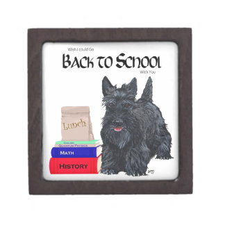 Scottish Terrier Back to School Premium Trinket Box