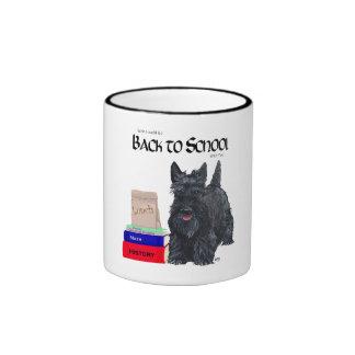 Scottish Terrier Back to School Ringer Coffee Mug
