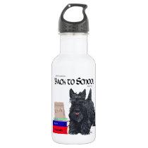Scottish Terrier Back to School Stainless Steel Water Bottle