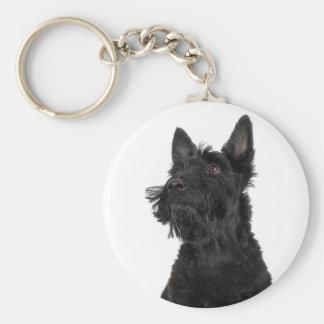 Scottish Terrier Basic Round Button Keychain