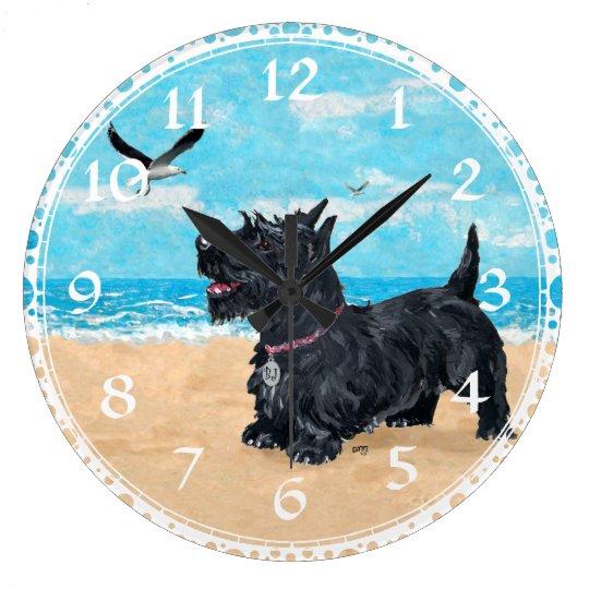 Scottish Terrier Beach Clock