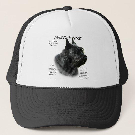 Scottish Terrier (black) History Design Trucker Hat