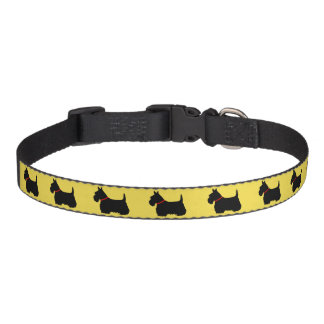 Scottish Terrier, black silhouette Pet Collar