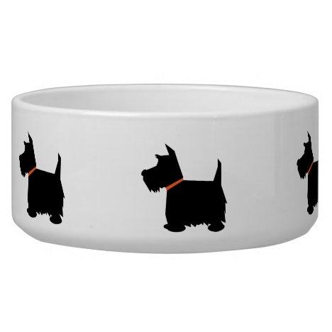 Scottish Terrier black silhouette pet dog bowl