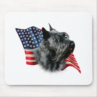 Scottish Terrier (blk) Flag Mouse Pad