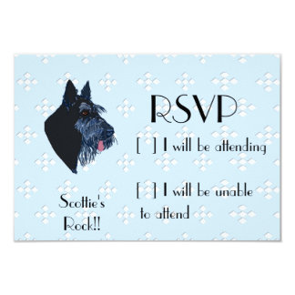 Scottish Terrier - Blue w/ White Diamond Design Card