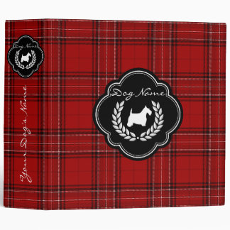 Scottish Terrier Brag Book Personalize 3 Ring Binder