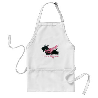 Scottish Terrier Breast Cancer Warrior Adult Apron