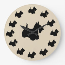 Scottish Terrier Breed Wall Decor Clock