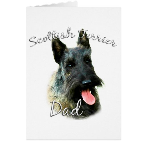 Scottish Terrier (brindle) Dad 2 Card