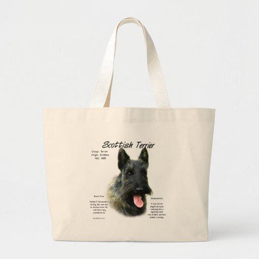 Scottish Terrier (brindle) History Design Canvas Bags