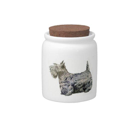 Scottish Terrier Candy Jar