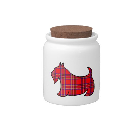 Scottish Terrier Canister Candy Jar