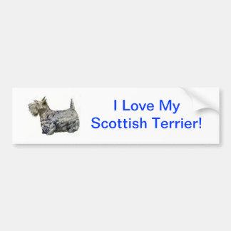 Scottish Terrier Car Bumper Sticker