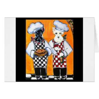 Scottish Terrier Chefs Cards