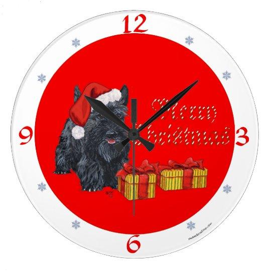 Scottish Terrier Christmas Clock