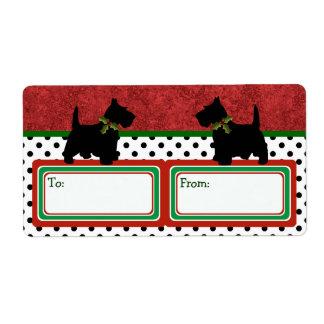 Scottish Terrier Christmas Gifts Scottie Dog Fun Shipping Label