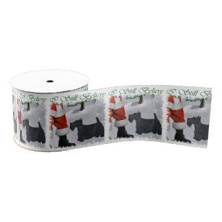Scottish Terrier Christmas Grosgrain Ribbon