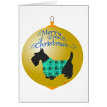 Scottish Terrier Christmas Ornament Greeting Cards
