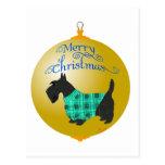 Scottish Terrier Christmas Ornament Postcards