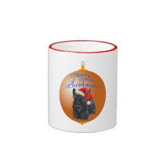 Scottish Terrier Christmas Ornament Ringer Mug