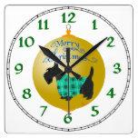 Scottish Terrier Christmas Ornament Wall Clocks