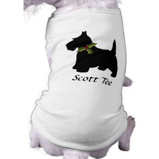 Scottish Terrier Christmas Personalized Pet Tshirt