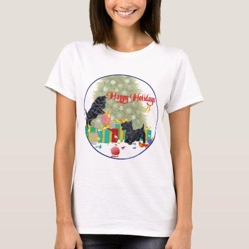 Scottish Terrier Christmas T-Shirt