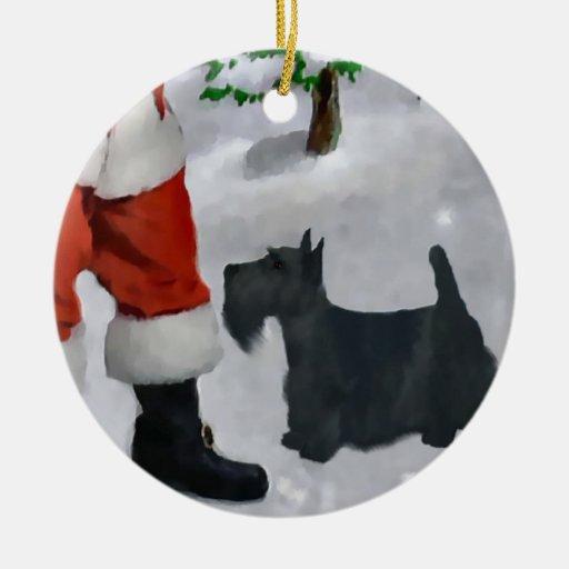 Scottish Terrier Christmas Tree Ornament