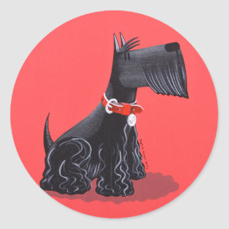 Scottish Terrier Classic Round Sticker